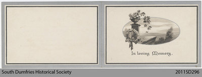 Funeral Card, Horace Sharp