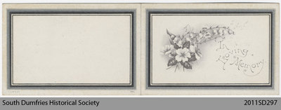 Funeral Card, Charles Stuart