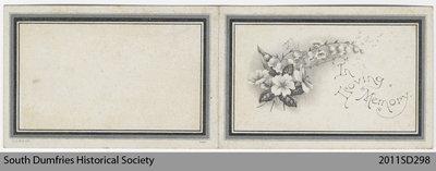 Funeral Card, Sara M. Weir
