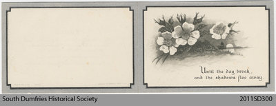 Funeral Card, Betsy Sutherland Manson