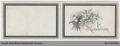 Funeral Card, Alexander Carrick