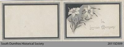 Funeral Card, Ann Bell Brockbank