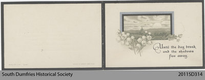 Funeral Card, Beatrice Laing Kines