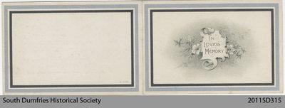 Funeral Card, Helen Margaret Birley