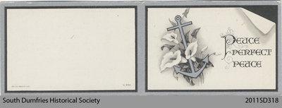 Funeral Card, Georgia W. Morton