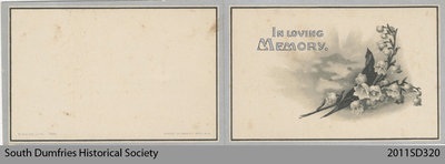 Funeral Card, Sadie J. McConnell