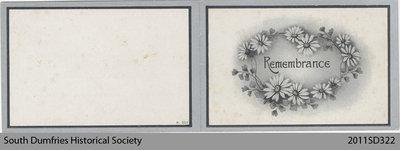 Funeral Card, Margaret A. Weir
