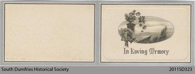 Funeral Card, Jessie Fraser