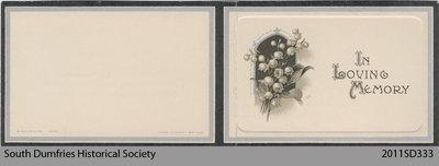 Funeral Card, Jeanetta S. Kelman