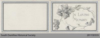 Funeral Card, Donald Robertson