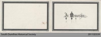 Funeral Card, Thomas Wallace