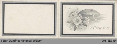 Funeral Card, Wm. F. Blain