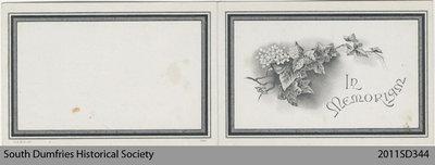 Funeral Card, Edwin Thomas Charles