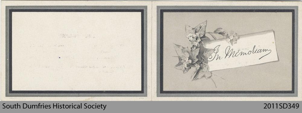 Funeral Card, James McCrae