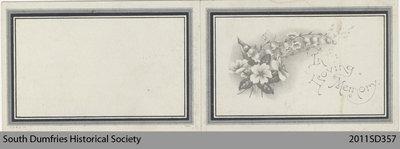 Funeral Card, Gavin Wilbert