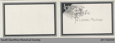 Funeral Card, Isabella Smith