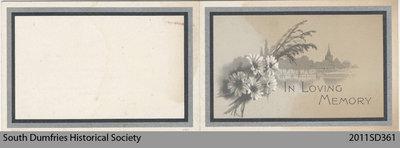 Funeral Card, George N. Geddes