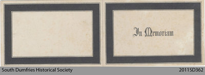 Funeral Card, Janet Milroy
