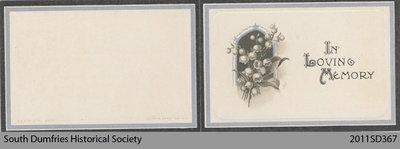Funeral Card, David Robson Brockbank