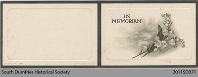 Funeral Card, Elizabeth Weir