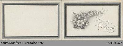 Funeral Card, Robert Trotter