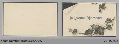 Funeral Card, John Ronald