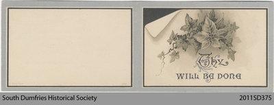 Funeral Card, Daniel McPherson