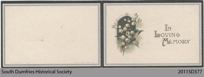 Funeral Card, Helen Hall