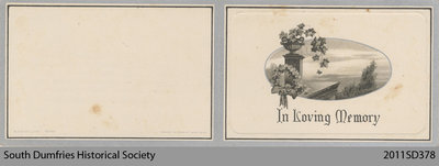 Funeral Card, Isabella Marshall