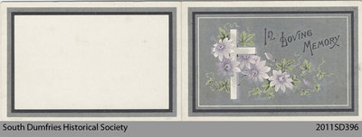 Funeral Card, Jessie Wallace