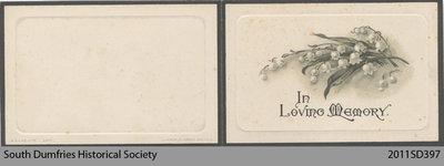 Funeral Card, Robert John Aitkin