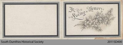 Funeral Card, Robert T. Reid