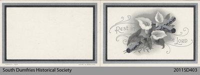 Funeral Card, Henry Reid