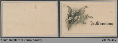 Funeral Card, Robina Trotter