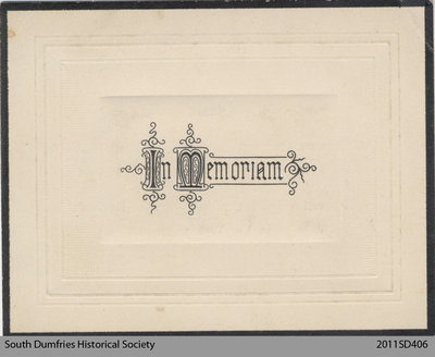 Funeral Card, Margaret Robson