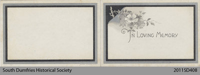 Funeral Card, William Smith
