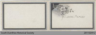Funeral Card, Peter McCrea