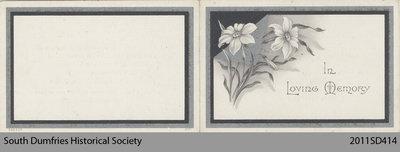 Funeral Card, Johanna McKilligan