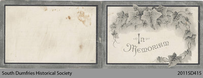 Funeral Card, Mary Stewart