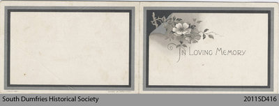 Funeral Card, William MacDonald