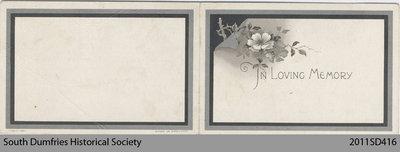 Funeral Card, William MacDonald