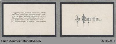 Funeral Card, Margaret Nichol
