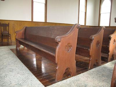 Church benches.