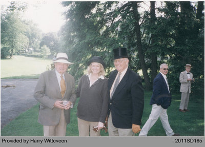Harry Witteveen at the Rockefeller Family Estate