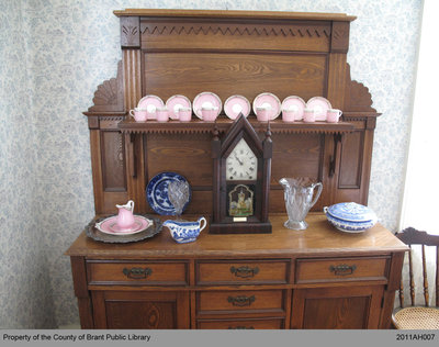 Pink Set: Tea Cups, Saucers and Serving Plates that belonged to Jane Hamilton Hunter