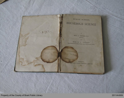 "Second Edition of ""Public School Domestic Science"" by Adelaide Hoodless"