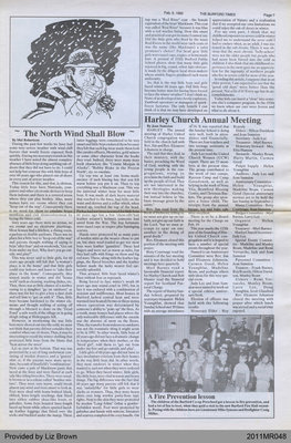 The North Wind Shall Blow by Mel Robertson, from The Burford Times