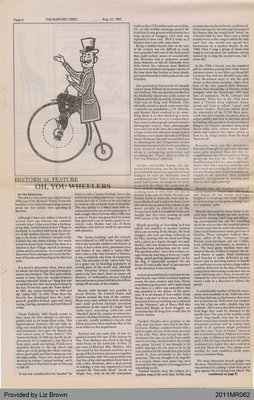 Oh, You Wheelers by Mel Robertson, from The Burford Times