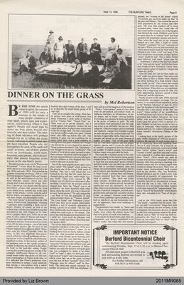 Dinner on the Grass by Mel Robertson, from The Burford Times