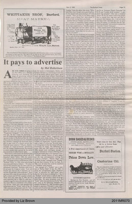 It Pays to Advertise by Mel Robertson, from the Burford Times